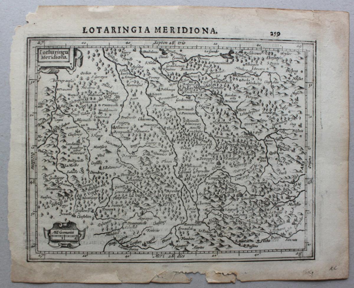 Kupferstich Karte Lothringen