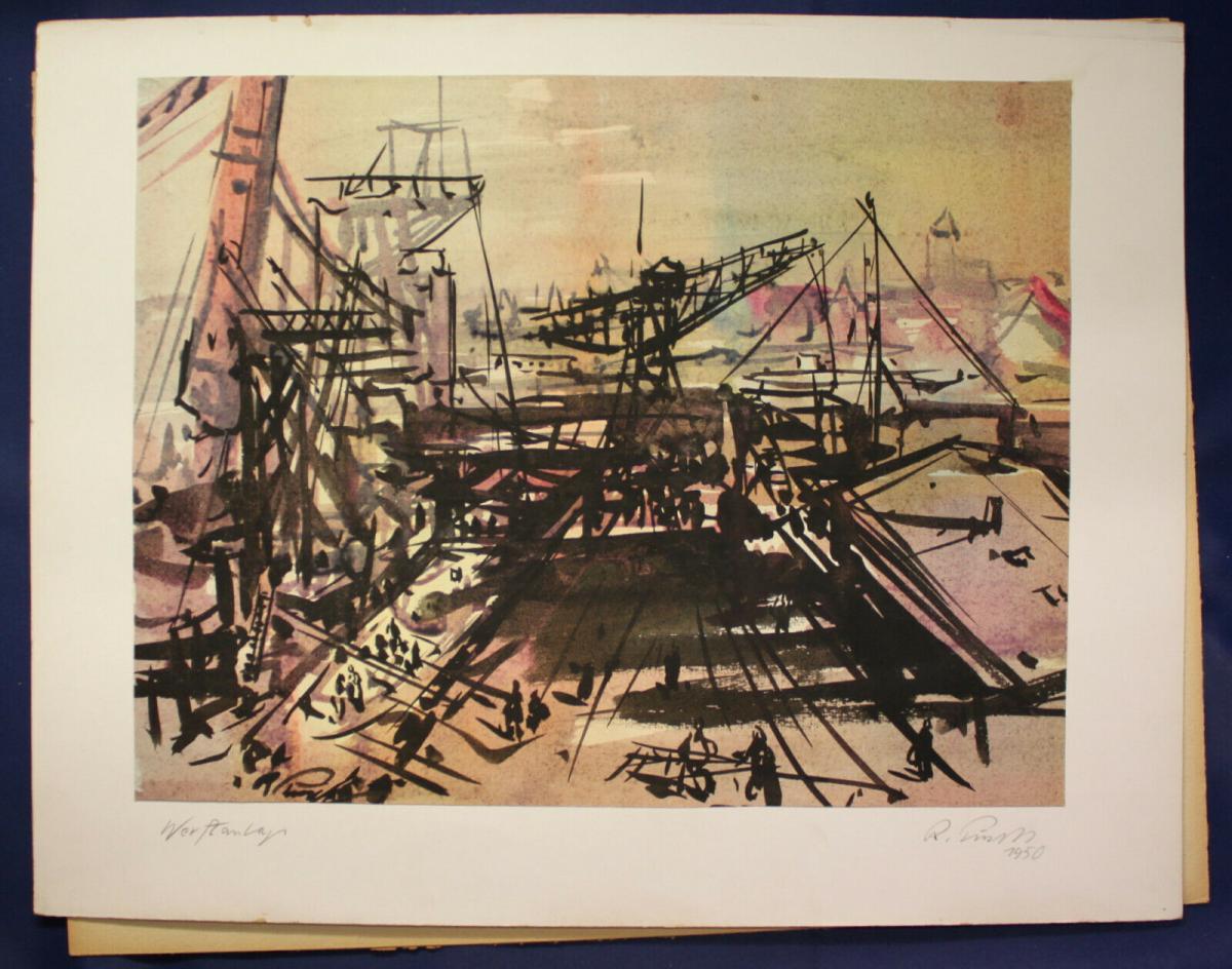 Richard Pusch - Aquarell auf Papier. Titel