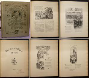 Hermann Vogel - Album um 1900 Geschichte Maler Kunst Kultur Illustrator sf