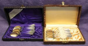 11x Mokkalöffel von Henniger Jugendstil sehr selten um 1910 Silber Besteck sf
