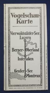 Original Vogelschau - Karte um 1910 Geografie Landeskunde Ortskunde Natur sf