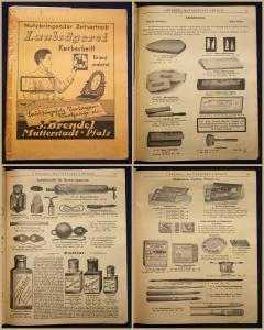 Werbezeitung von J. Brendel Nutzbringender Zeitvertreib Laubsägerei um 1920 sf