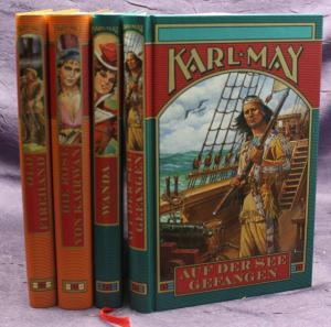 Karl May Auf der See gefangen uw 4 Bde 2003 Weltbild Western Erzählungen sf