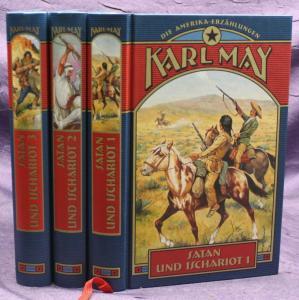 Karl May Satan und Ischariot 3 Bde 2003 Weltbild Western Erzählungen sf