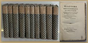 Raynal Histoire Philosophique et Politique um 1780 10 Bde Philosophie sf