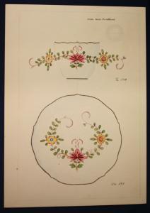 3x Orig. Entwurfzeichung Porzellanmanufaktur Meißen