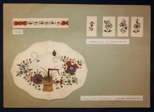 Orig. Entwurfzeichung Porzellanmanufaktur Meißen