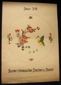 2x Orig. Entwurfzeichung Porzellanmanufaktur Meißen