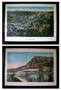 Dinant - Belgien - Maas - um 1910 - 2 riesige lithografische Ansichten - rara