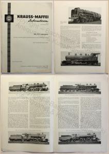 Krauss-Maffei Informationen Die 2'C1'-Lokomotive 1958 Dampflokomotive Geschichte