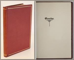 Goethe - Handschrift - Das Buch Annette. Ode -um 1910 - Maroquinband - xz