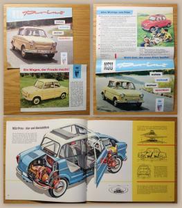Orig. Werbeprospekt + 1 Werbeblatt NSU Prinz um 1960 Audi Auto Union Automobil