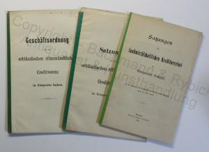 Konvolut 2x Satzung & 1x Geschäftsordnung Creditverein Sachsen 1899 & 1900 xz