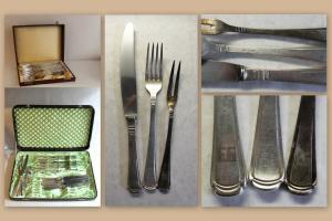 Besteck Wenz-Besteck 10 Gabeln & Messer + Fleischgabel 90er Versilbert xz