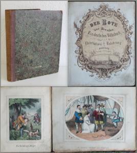 Lohse - Der Bote aus Dresden. Ein deutsches Volksbuch- um 1850 -Lithografien xz