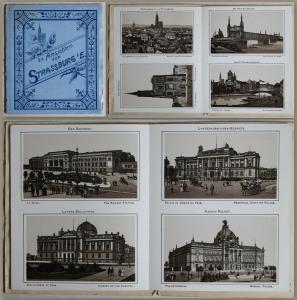 24 Ansichten von Strassburg im Elsass (um 1900) - Grafik Frankreich Ortskunde xz