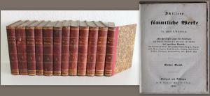 Schillers sämmtliche Werke in zwölf Bänden 1853 - Weltliteratur, Drama, Lyrik xz