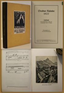 Gottschalch Dresdner Kalender 1927 Jahrbuch Kunst Kultur Wirtschaft Sachsen xz