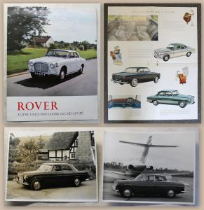 Werbeprospekt Broschüre Rover 3-Liter Limousine & 2 Orig Fotos um 1970 Automobil