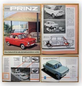 Orig. Werbeprospekt Unser Prinz Automobile Motorräder Motoren Auto 1961 xy
