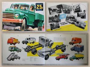 Werbeprospekt Hanomag 2,5t Diesel Lastenwagen Pritsche Transportfahrzeug um 1950