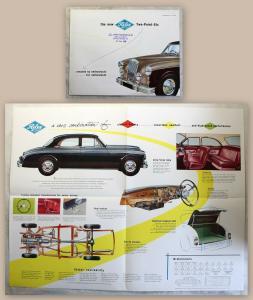 Werbeprospekt Broschüre Riley Two-Point-Six 2.6 Automobil Oldtimer 1958 xz