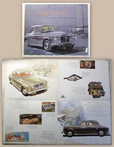 Werbeprospekt Broschüre Plakat Rover 80 & 100 Models um 1965 Automobil Oldtimer