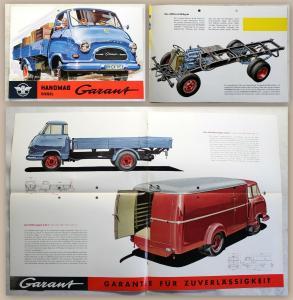 Werbeprospekt Broschüre Poster Hanomag Garant Diesel Lastwagen D28 um 1960 xz