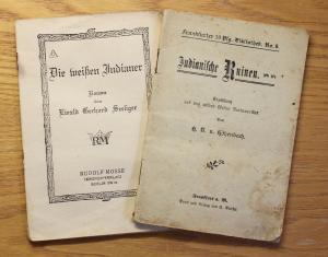Konvolut Höhenbach Indianische Ruinen & Seeliger Die weißen Indianer 1918 Romane