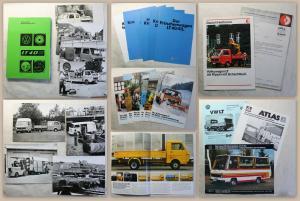 Pressemappe Volkswagen VW LT 40D mit 8 Orig Fotos 12 Prospekte 1979 Automobil xz