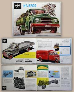 Werbeprospekt Broschüre Hanomag HA 6200 Lastwagen Transporter Pritsche um1960 xz