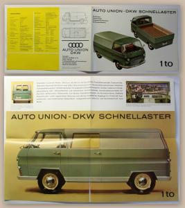 Original Werbeprospekt Auto Union DKW Schnelllaster um 1960 Automobile Audi xz