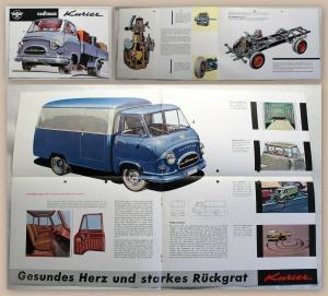 Werbeplakat Prospekt Hanomag Kurier Lastwagen Transporter Pritsche um 1960 xz