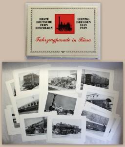 Erste Deutsche Fern-Eisenbahn Fahrzeugparade in Riesa 1989 mit 45 Bilder xz