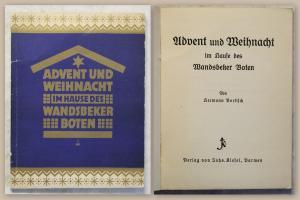 Vortisch Advent und Weihnacht im Hause des Wandsbeker Boten 1930 Belletristik xz