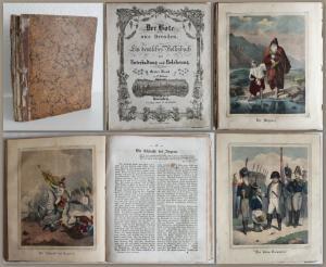 Der Bote aus Dresden. Ein deutsches Volksbuch 1. Band in 12 Heften um1850 - xz