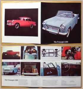 Orig. Prospekt Broschüre The Triumph 1200 um 1965 Automobil Oldtimer USA xz