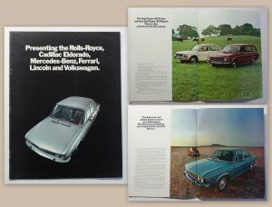 Orig. Prospekt Broschüre Audi 100 um 1970 Auto Union Automobil Oldtimer xz