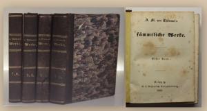 Thümmels Sämmtliche Werke 1-8 komplett in 4 Bde 1853 Belletristik Klassiker xy