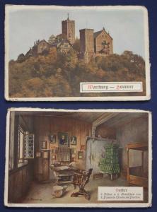9 Ansichtskarten von Wartburg und Luther um 1915 Architektur Kultur Geografie sf