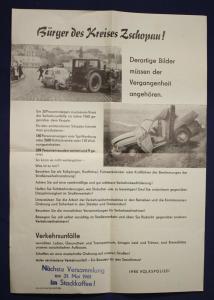 Kleines originales Polizei Plakat