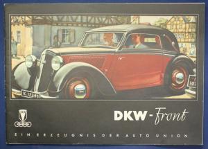Original Broschüre DKW - Front  um 1935 Automobilia Cabriolet Geschichte sf