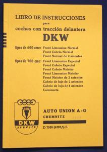 Original Prospekt Libro de instrucciones para coches con traccion DKW 1939 sf