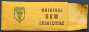 Original DKW Verpackung Ersatzteile um 1935 Motorrad Pappe Automobilia sf