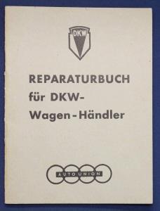 Original Prospekt Reparaturbuch für DKW - Wagen - Händler 1935 Motorrad sf
