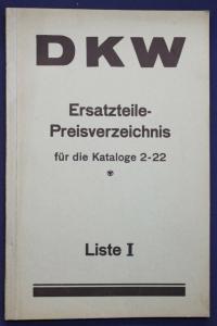 Original Prospekt für DKW Ersatzteile - Preisverzeichnis Kataloge 2-22 1935 sf