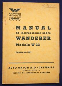 Original Prospekt Manual de instrucciones sobre Wanderer Modelo W23 1937 sf
