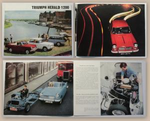 Original Werbeprospekt Brochure Triumph Herald 1200 um1965 Oldtimer Automobil xz