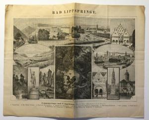 Original Prospekt Bad Lippspringe um 1890 Nordrhein-Westfalen Teuteburger Wald