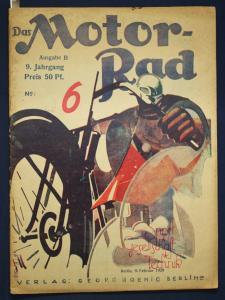 Original Prospekt Das Motorrad 9. Jhg No. 6 1929 Technik Gesellschaft Sport sf